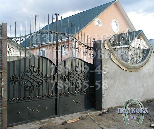 Кованые ворота изготавливаются
